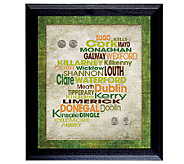 Luck of the Irish Wall Frame with Coins - C213961