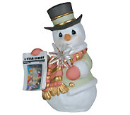 Precious Moments A Star Is Born Snowman Holding Star - C213863