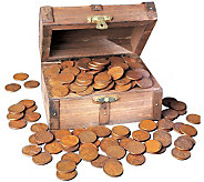 Treasure Chest of 1 Lb of Lincoln Wheat-Ear Pennies - C213765