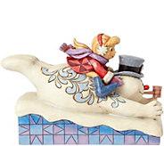 Jim Shore Frosty with Karen Sledding Figurine - C214265