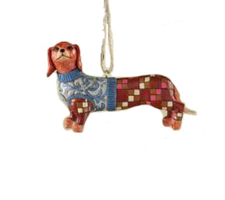 Jim Shore Heartwood Creek Dachshund Dog HangingOrnament