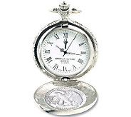 Silver Walking Liberty Half-Dollar Pocket Watch - C212173