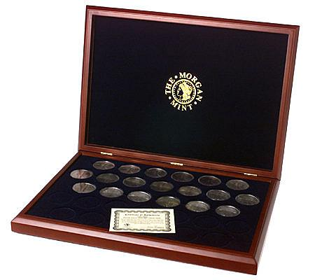 Complete Silver Eagle Dollar Collection With Display Case