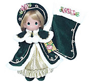 Precious Moments Green Victorian 24th AnnualStocking Doll - C214079