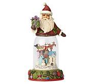 Jim Shore Heartwood Creek Santa with ChristmasFigurine - C214279