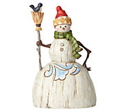 Jim Shore Heartwood Creek Folklore Snowman withBroom Figurine - C214283