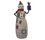Jim Shore Heartwood Creek Snowman w/ BirdhouseFigurine - C214285