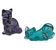 Fenton ArtGlass Handpainted Cat Collection Ship#2 - C28390