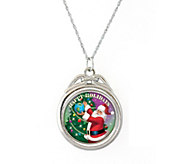 Happy Holidays Colorized JFK Half-Dollar Spinner Pendant - C214193