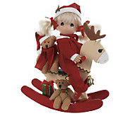 Precious Moments Rock-a-Jingle Wooden Rocker Doll - C213795