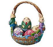 Jim Shore Heartwood Creek Bunny Couple Easter Basket - C212799