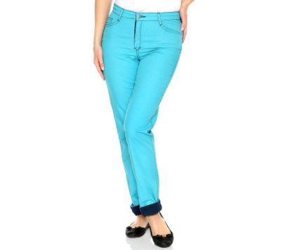DENIM & CO. Jeans 5-Pocket wendbar in Kontrastfarben