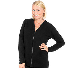 Cardigan Strass-Zipper