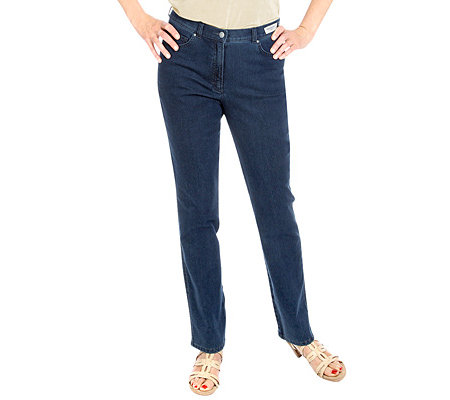 RAPHAELA by BRAX Patty Swing Jeanshose Magic-Dynamic Zierstickerei