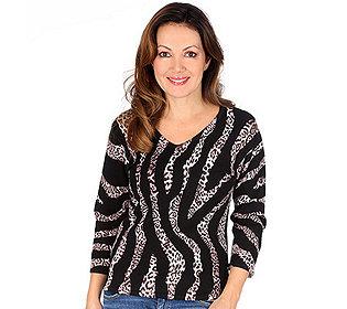 Pullover Zebra-Leodruck