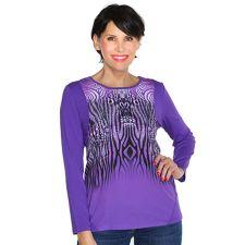 VIA MILANO Shirt 1/1-Arm Rundhalsausschnitt Druckvielfalt