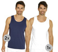 MEN'S TOUCH Mikrofaser Achselshirts 2 Farben pro Pack 3er-Pack