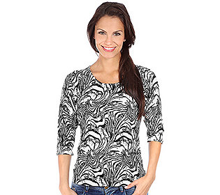 Pullover Zebradruck