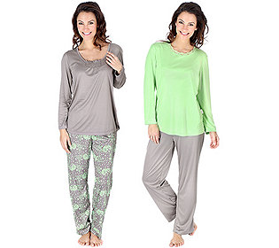 2 Pyjamas Druck & uni