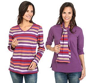 Shirt mit Schal Set 3tlg.
