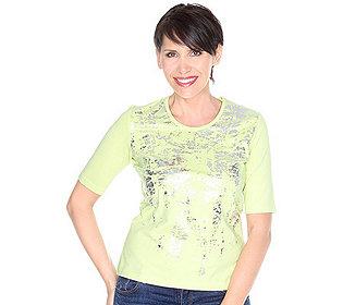 Shirt Silberfolien-Druck