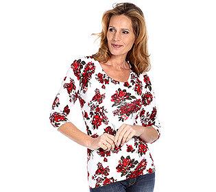 Pullover Rosendruck
