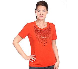 Shirt Paillettendetails