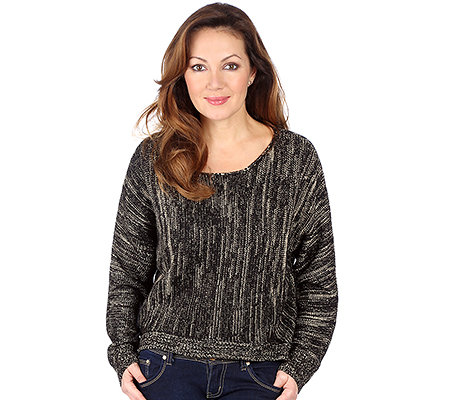 HEARTBEAT Pullover, 1/1-Arm Strickware Metall-Akzent goldfarben