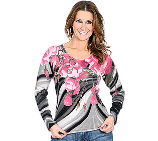 Pullover Blumendruck