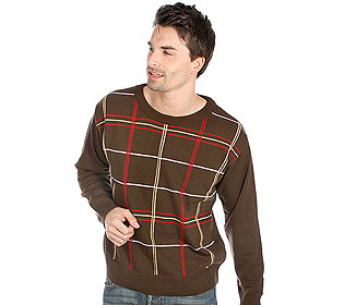 Herren-Pullover Streifen