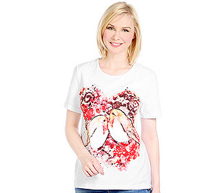 Shirt Vogel-Druck