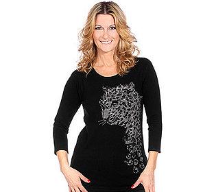 Pullover Leopardenkopf