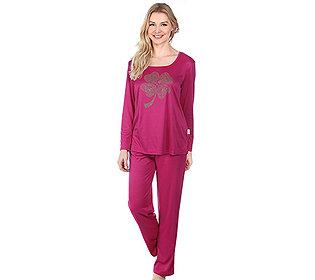 Pyjama Carré-Ausschnitt
