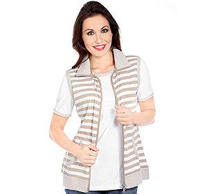 Shirt & Weste Streifen