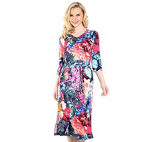 Kleid Blumendruck
