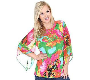 Shirt Chiffon-Ärmel