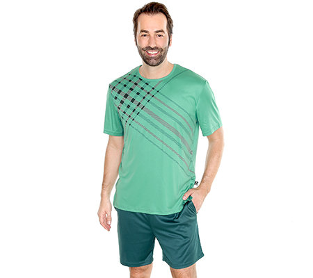 MEN'S TOUCH MF Jersey Interlock Shorty, 1/2-Arm Rundumdehnbund Seitenschlitze