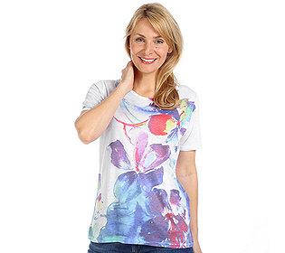 Shirt Blumen-Druck