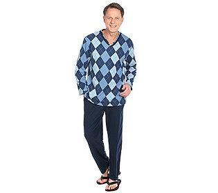 Herren-Pyjama Rautendruck