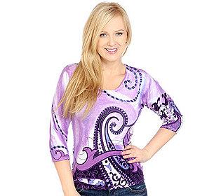 Pullover Paisleydruck