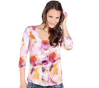 Shirt Aquarell-Druck