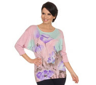 FASHION ART Pullover Spring-Breeze Fledermausärmel handbemalt