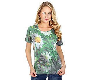 Shirt Foto-Blüten-Druck
