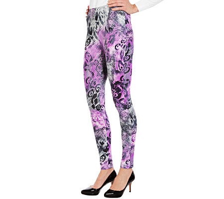 IN-PRINT Leggings lange Form Rundumdehnbund Animaldruck
