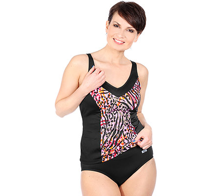 PARADISIO Bademode Tankini Softcups Halbcorsage V-Ausschnitt