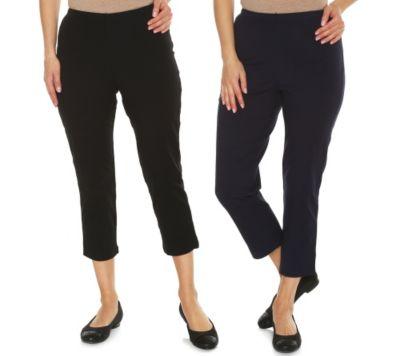 WOMEN WITH CONTROL Set, 2-tlg. Jerseyhosen 3/4-Länge schmales Bein