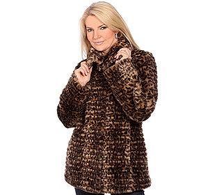 Mantel Leopardmuster