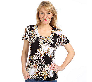Shirt Ketten-Animal-Druck