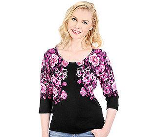 Pullover Rosendruckoptik