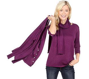Twinset mit Schal